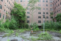 Back Courtyard of Hudson State River Hospital