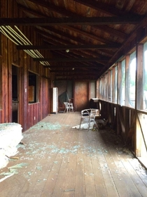 Back Porch of an Abandoned Farm House in Shingletown CA
