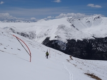 Backcountry skiing on Berthoud Pass Colorado today  May