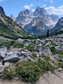 Backpacking in the North Fork of Cascade Canyon a few days ago Grand Tetons OC  x