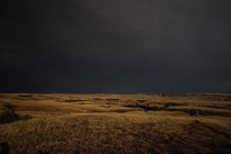 Badlands SD storm and perfect sunlight behind m Lightroom edit