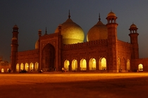 Badshahi Mosque at night - Lahore Punjab Pakistan
