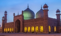 Badshahi Mosque Lahore at Dusk