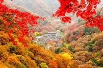 Baegyangsa Temple complex in the mountains South Jeolla Province South Korea