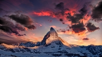 Baffling photograph of the Matterhorn in Switzerland  photo by Thomas Fliegner wallpaper size D
