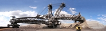 Bagger  bucket wheel excavator built for the job of removing overburden before coal mining
