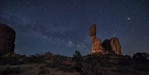 Balanced Rock on a Starry Night