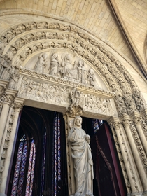 Balcony area of the Saint Chapelle in Paris France