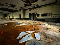 Ballroom with buckling floor and most fixtures scrapped in Ohio