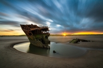 Baltray ship wreck Ireland  photo by Rafal Rozalski