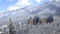 Banff Springs Hotel in the winter