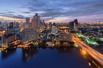 Bangkok Thailand at Sunrise  by Patra Kongsirimongkolchai