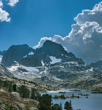 Banner and Ritter with a major storm incoming Ansel Adams Wilderness California