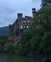 Bannerman Castle on Pollepel Island in the Hudson River New York