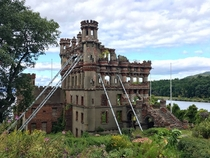 Bannermans Castle an abandoned military surplus warehouse on Pollepel Island in the Hudson River NY