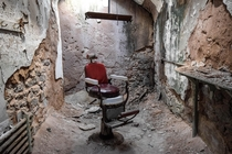 Barber chair Abandoned Eastern State Penitentiary Pennsylvania USA