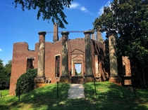 Barboursville Ruins - Thomas Jefferson Designed Mansion At The Barboursville Vineyards In VA