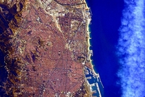 Barcelona as seen from the ISS x-post from rspace