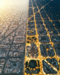 Barcelona day and night