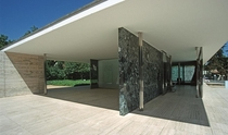 Barcelona Pavilion Catalan Pavell alemany Spanish Pabelln alemn German Pavilion designed by Ludwig Mies van der Rohe for the  Barcelona International Exposition Photo Hans Peter Schaefer