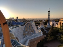 Barcelona Spain from Park Guell by Gaudi