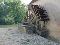 Bark mill rotting in front of everyones eyes in Moret-sur-Loing France