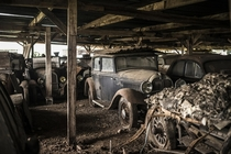 Barn full of rare cars collected by French entrepreneur Roger Baillon which sat undisturbed since the s until they were sold at auction in