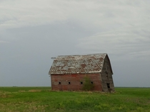 Barn in Manitoba Canada Storm is rolling in at the moment