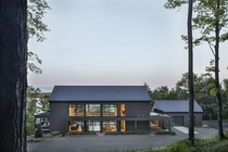 Barnhouse style second home in Lake Memphremagog Potton Canada by Bourgeois Lechasseur Architects Photo Adrien Williams