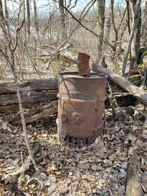 Barrel Stove Found In Forest