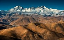 Barren Hills to Majestic Mountains Himalayan peaks in Tibet near Mount Cho Oyu