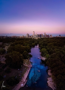 Barton Springs Pool Sunset