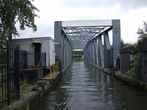 Barton Swing Aqueduct Barton upon Irwell in Greater Manchester England The infrastructure is a moveable navigable aqueduct