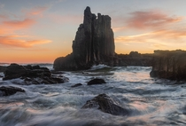 Basalt Awakening Cathedral Rocks NSW Australia The most fitting place to photograph on Good Friday and the sky put on a clinic The iconic basalt columns at Kiama here piercing through the ocean floor and up above the water level  IG jyeberryphoto