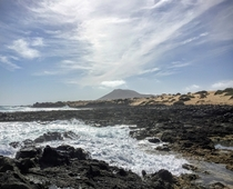 Basalt beach Fuerteventura Spain