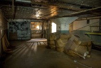 Basement level Abandoned textile mill