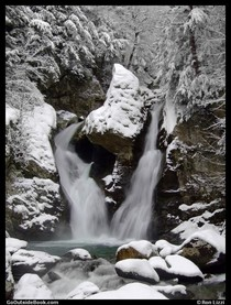 Bash Bish Falls Massachusetts after a snowstorm