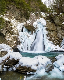 Bash Bish Falls under a fresh coat of ice