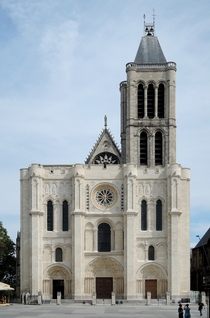 Basilique Saint-Denis near Paris France where gothic architecture was born