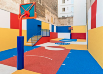 Basketball court in Paris France by Ill-Studio in collaboration with French fashion brand Pigalle
