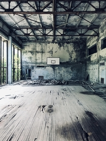 Basketball court in Pripyat
