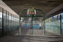 Basketball Court under a Motorway London