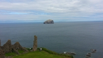 Bass Rock off the cost of North Berwick Scotland