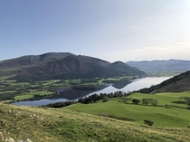 Bassenthwaite Lake National Nature Reserve Lake District England taken from Sale Fell
