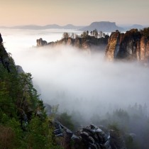 Bastei rock formation Saxon Switzerland National Park