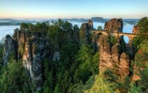 Basteibrcke Elbe sandstone mountains Germany