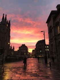 Bath went all pinky orange for a bit today