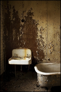 Bathroom in abandoned prison PA