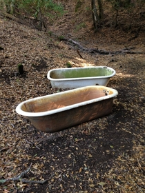 Bathtubs I Found While Hiking ex-post rmildlyinteresting  - More Pics in Comments