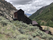 Bayhorse idaho This is the ore mill One of the few ghost towns in the west that still has more than just foundations Interesting place Old bank houses saloon store Old mine structures in the canyons above the town are worth the hike